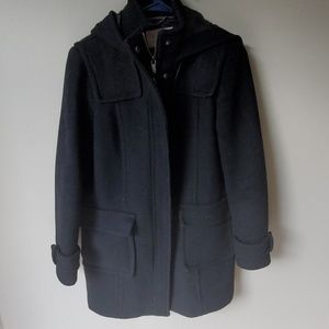 Black Banana Republic Hooded Coat